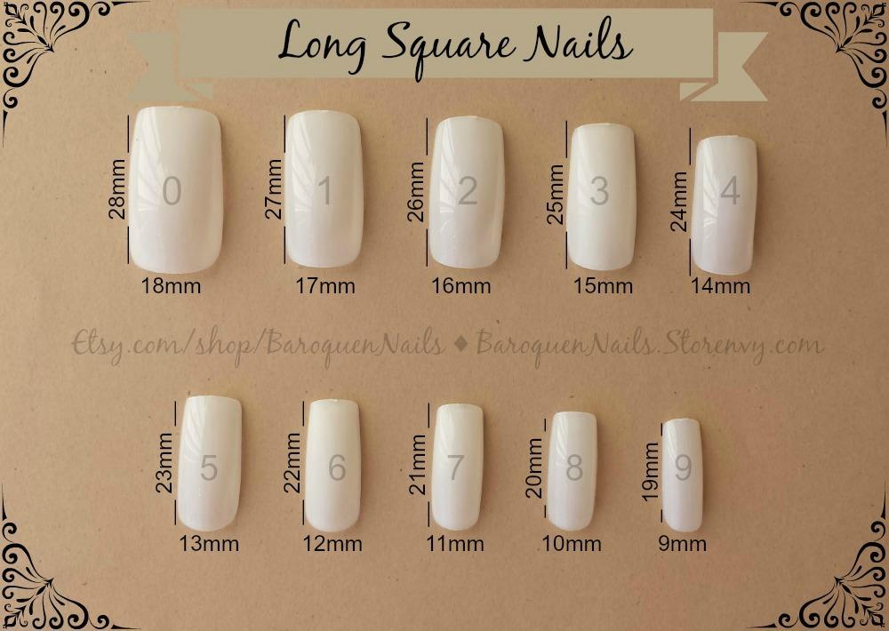500 Pcs Long Square Press On Nails