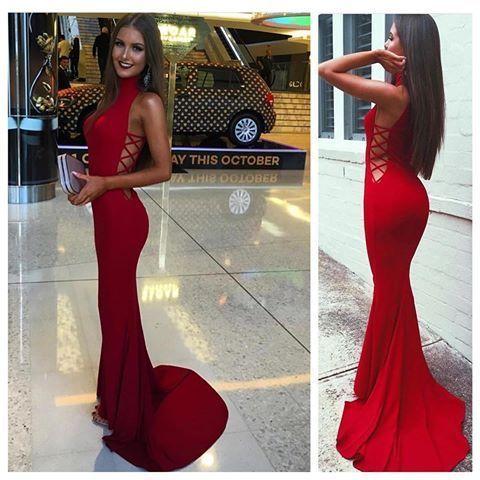 Red Marine Ball Dresses