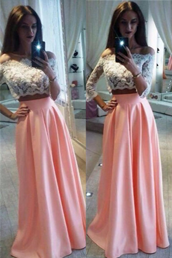 45090527630 Two piece prom dress