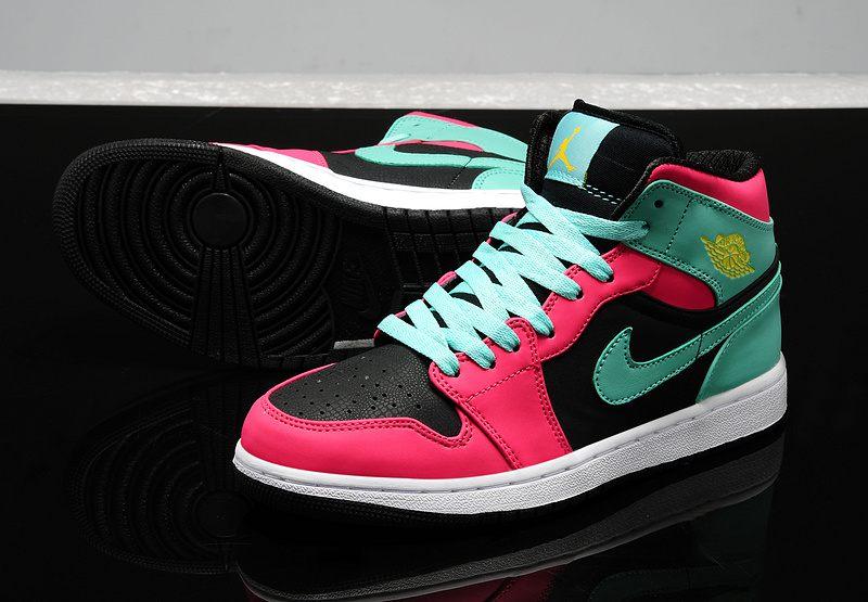 7203f243108 Nike Air Jordan 1 Womens 2014 Red Green Black · Sneakeronline ...