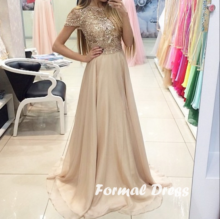 Champagne Dresses Formal Dresses