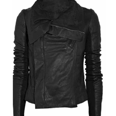 1f2a5051e3 Women Black High Neck Wide Free Collar Leather Jacket Women's ·  leatherworld2014 · Online Store Powered by Storenvy