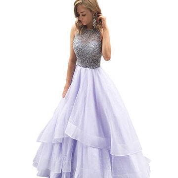 fceef7bf9a76e5 LoliPromDress HandmadeBeading Tiers Ball Gown Organza Prom Dresses 2017 -  Thumbnail 1 ...