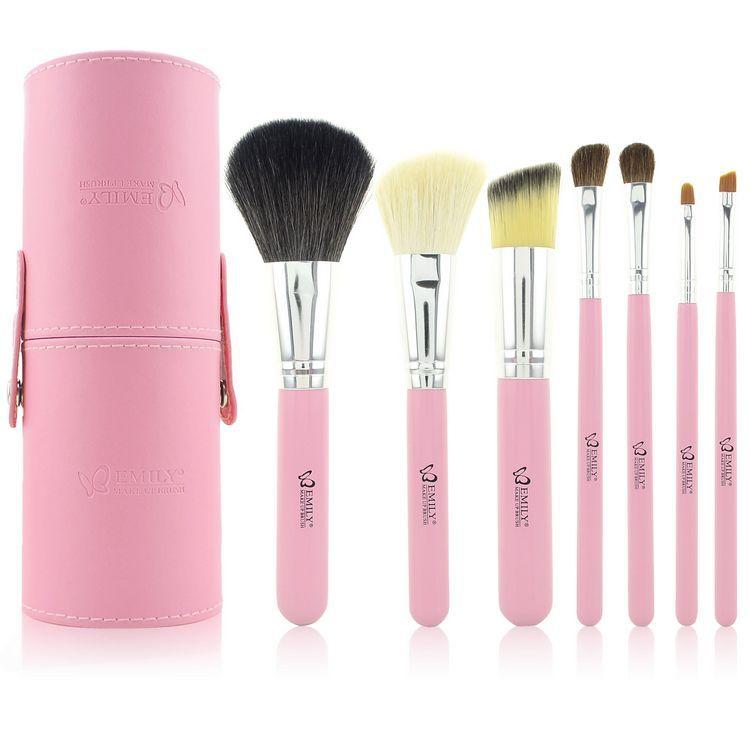 Bolayu 13pcs 1set Cosmetic Makeup Brush Brushes Set: Professional 7pcs Cosmetic Makeup Brush Kits Set Pink