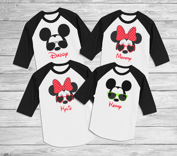 Personalized Disney Family Shirts Family Disney Shirts Mickey Sunglasses Shirts Disney Birthday Shirts