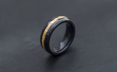 Wood Wedding Bands.Black Dyed Pear Wood And Gold Flake Wooden Ring Wooden Wedding Band Unisex Wooden Ring Wedding Rings Made In Canada From Ringandgroveco