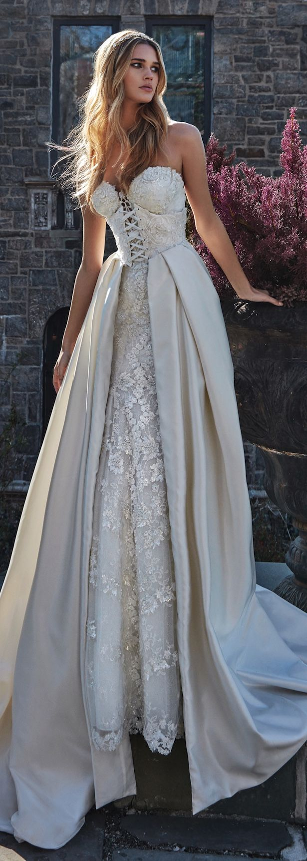 XP307 Ball Gown Elegant Satin Champagne Wedding Dress,Ball Gown Lace ...