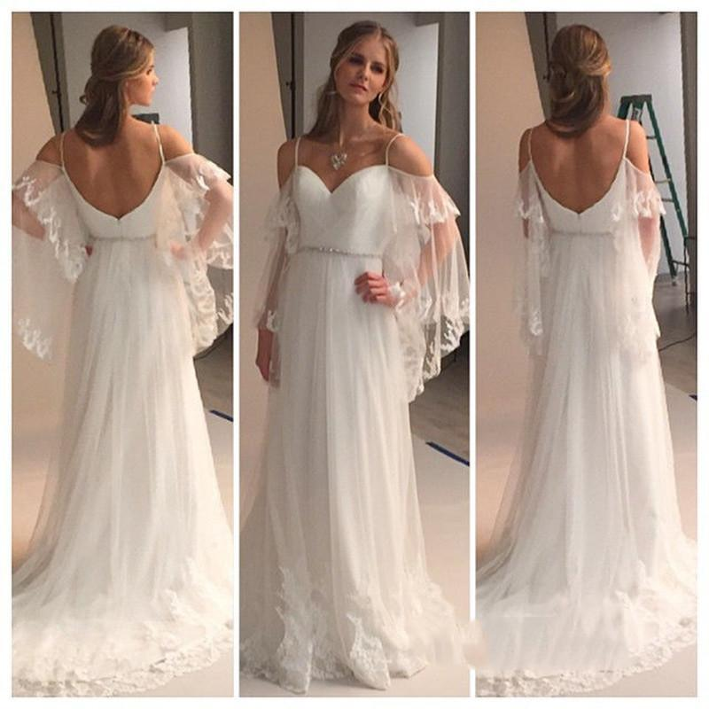 a1ba69266e06 XP309 Summer Beach Wedding Dresses A Line Tiers Tulle with Appliques  Sweetheart Beads Belt Sexy Back