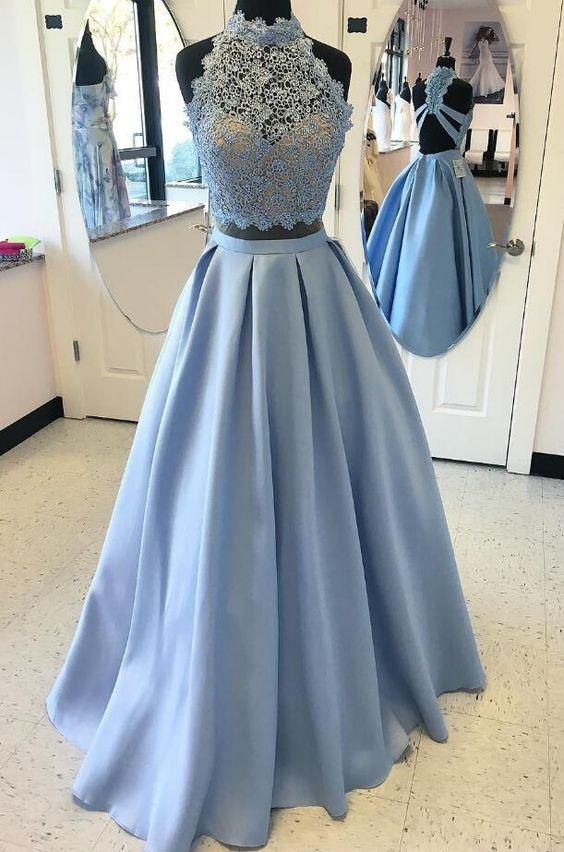 Prom Dresseslight Blue Prom Dressnew Prom Gown2 Pieces Prom