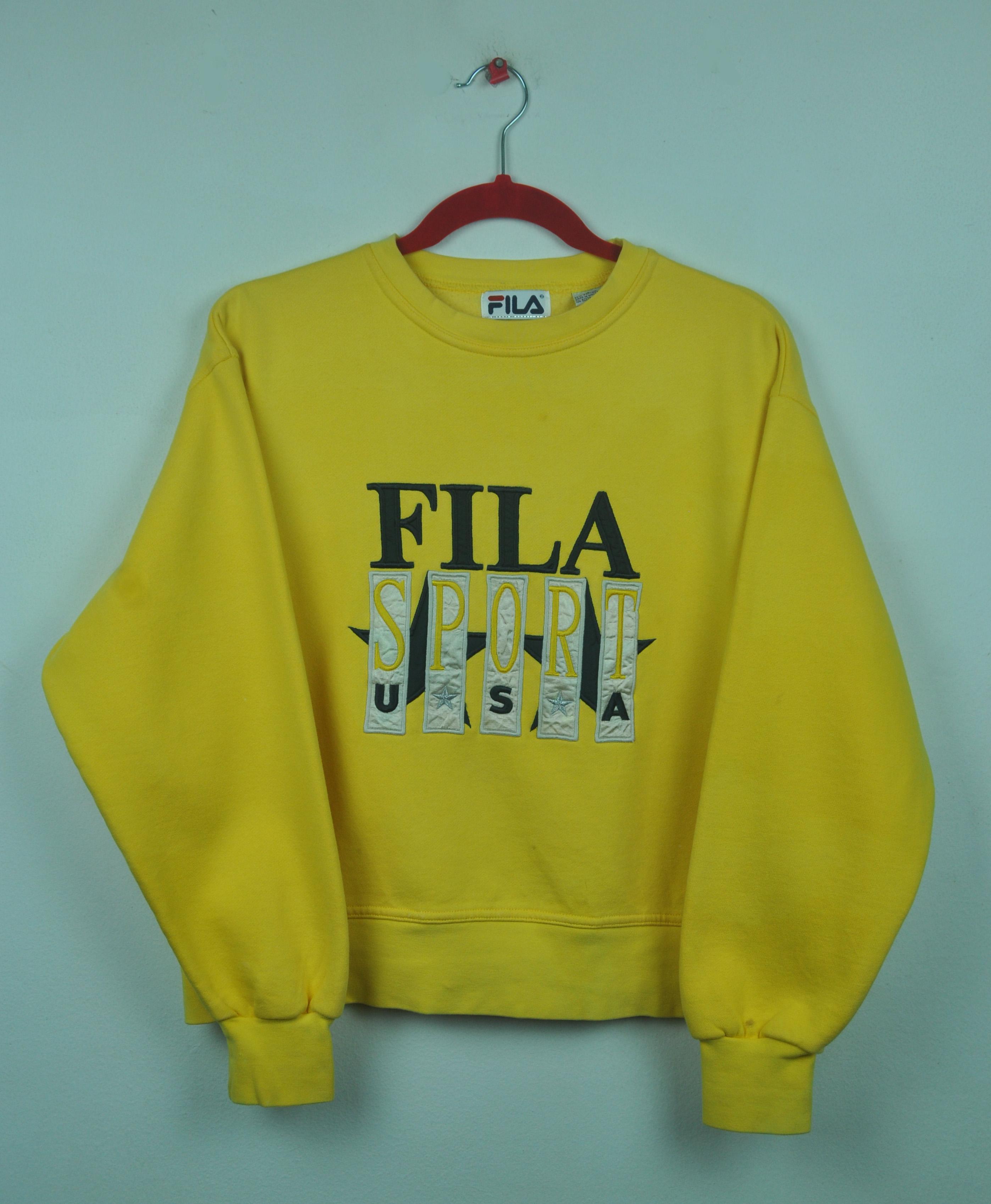 7df2f9c6c552 Vintage 90s Fila Embroidered Fila Sport USA CrewNeck Pullover ...