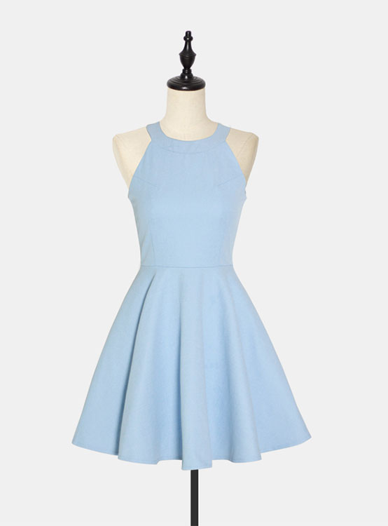 1e34dd44746 Cute blue short prom dress