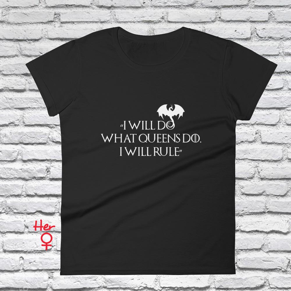 Im Not a Princess Maglietta 100/% Cotone LaMAGLIERIA T-Shirt Donna Game of Thrones