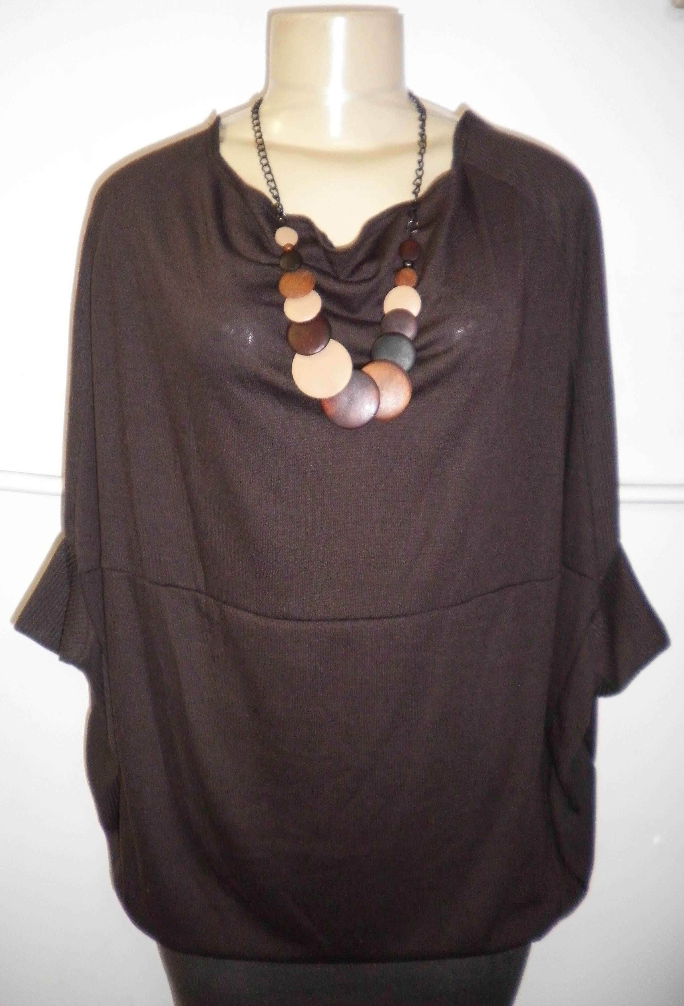 1b11b785ac9 Dark chocolate sweater top (plus size)