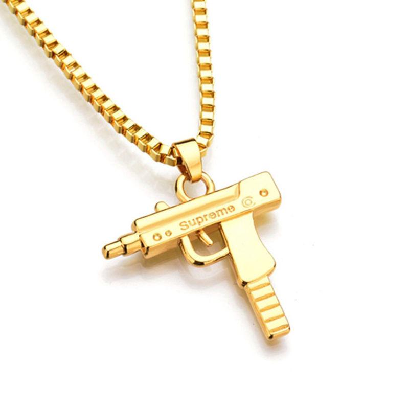 Gold supreme uzi gun pendant chain on storenvy uzi 20chain original aloadofball Gallery
