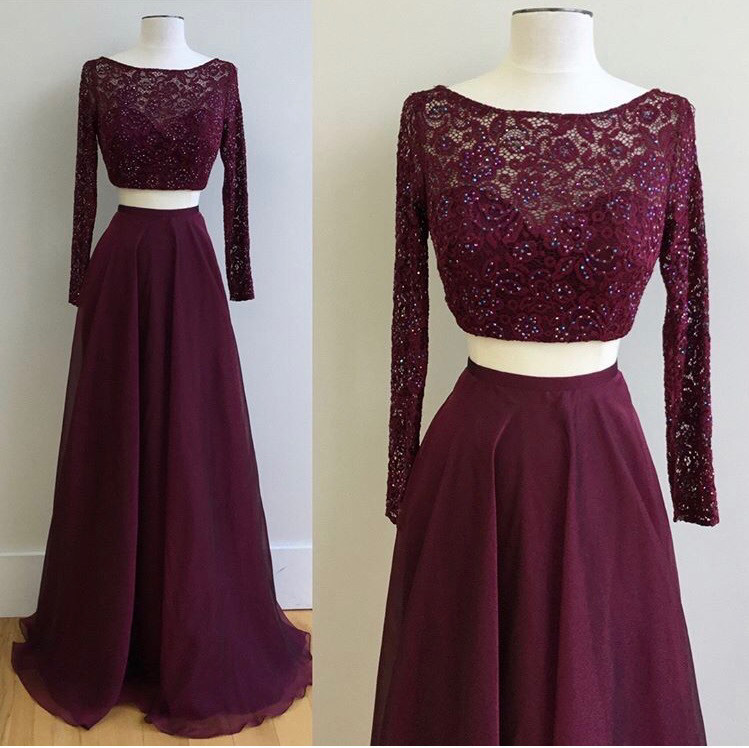 Two Pieces Prom Dress, Prom Dresses,Graduation Party Dresses, Prom ...