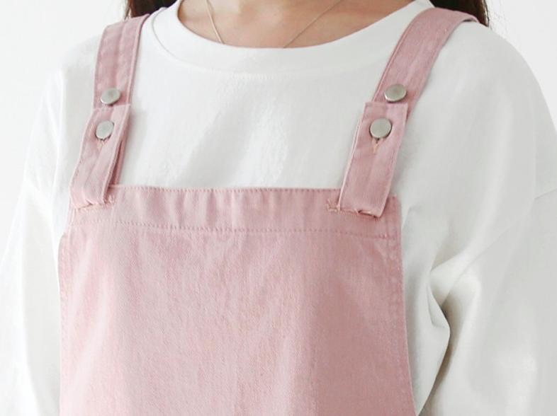 201ecdbe16 ... Pastel Overalls Dress - Thumbnail 4