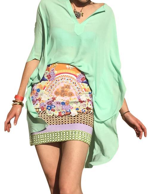 Clover Canyon 'Picnic Scarf' Print Skirt (XS)