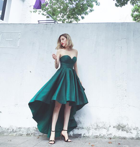 Dark Green Short Prom Dresses