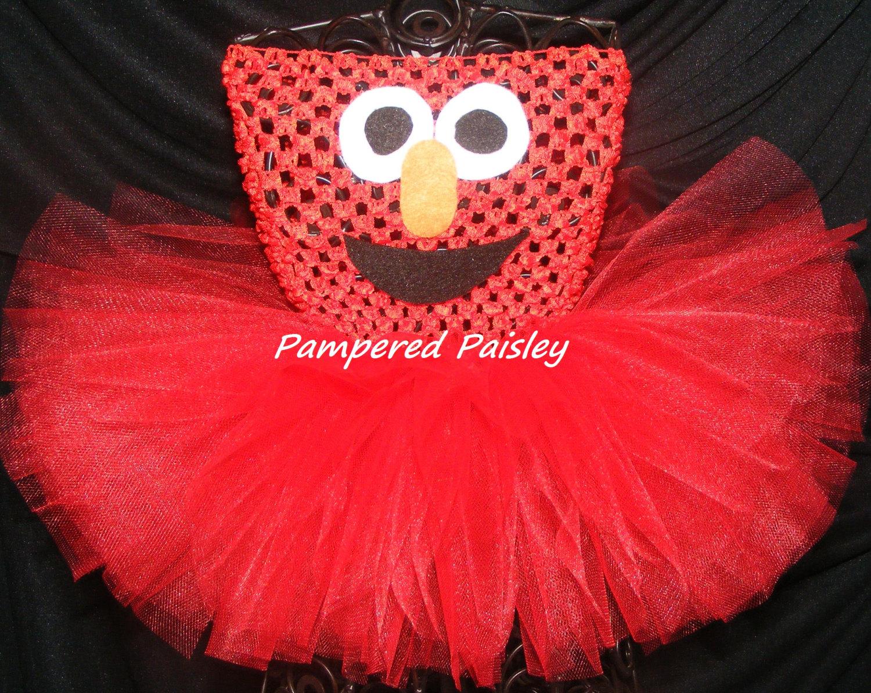 39750c792 Elmo tutu dress