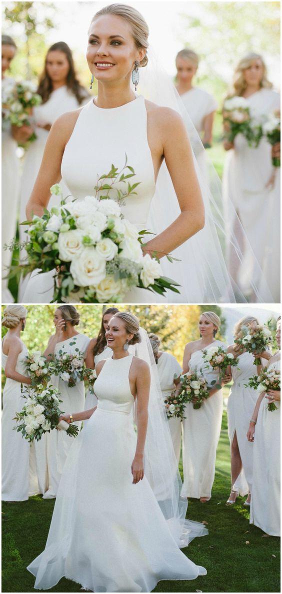 a18a4c1513 ... A line Halter Neckline Sexy Open Back Wedding Dress - Thumbnail 2 ...