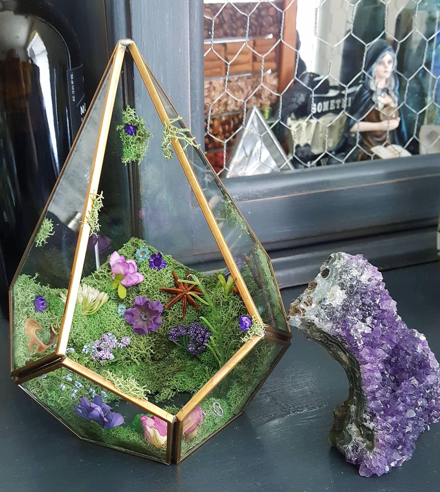 Amethyst Crystal Garden Terrarium Wild Witch Crystals Online Store Powered By Storenvy