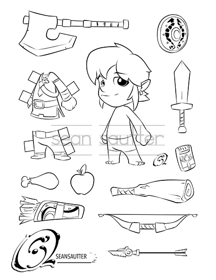 Baby Link Botw Coloring Page Paper Doll Cutout Seansautter Com Online Store Powered By Storenvy