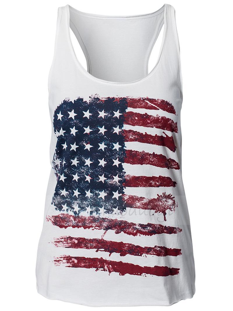 e14e98b37de07e Patriots Tank Top American Flag Print Vest for Women · Dressywomen ...