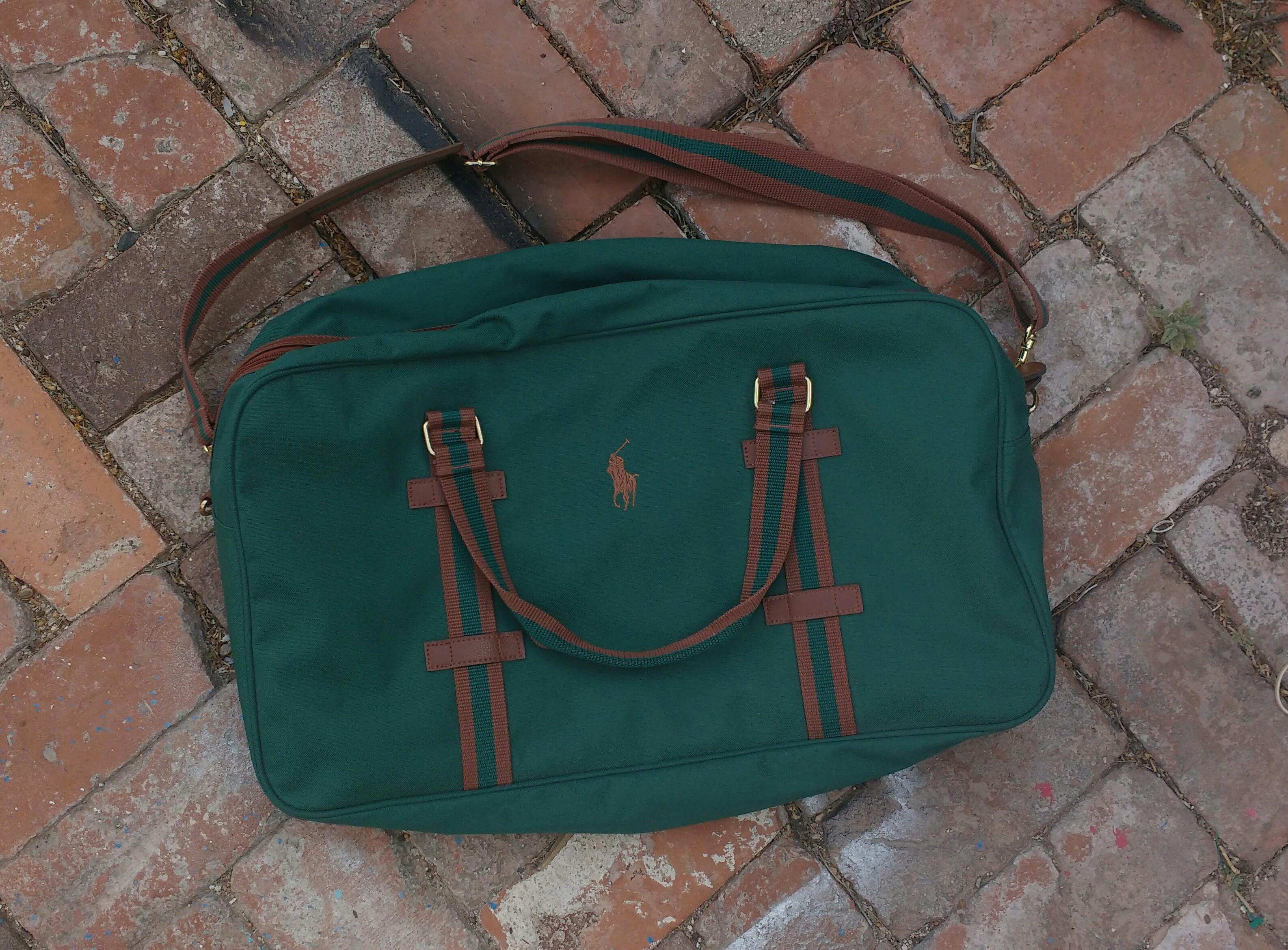 76ad4fec518 Vintage Polo Ralph Lauren Green Duffle Bag on Storenvy