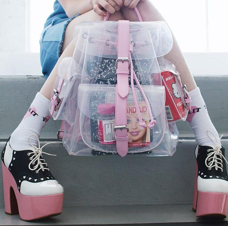 Mochila Transparente Transparent Backpack Wh348
