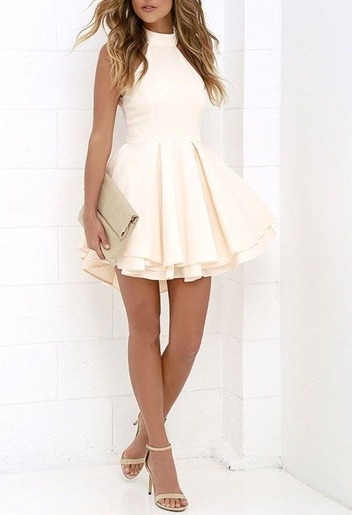 Sexy Halter Homecoming Dresssimple Backless Prom Dressshort Party