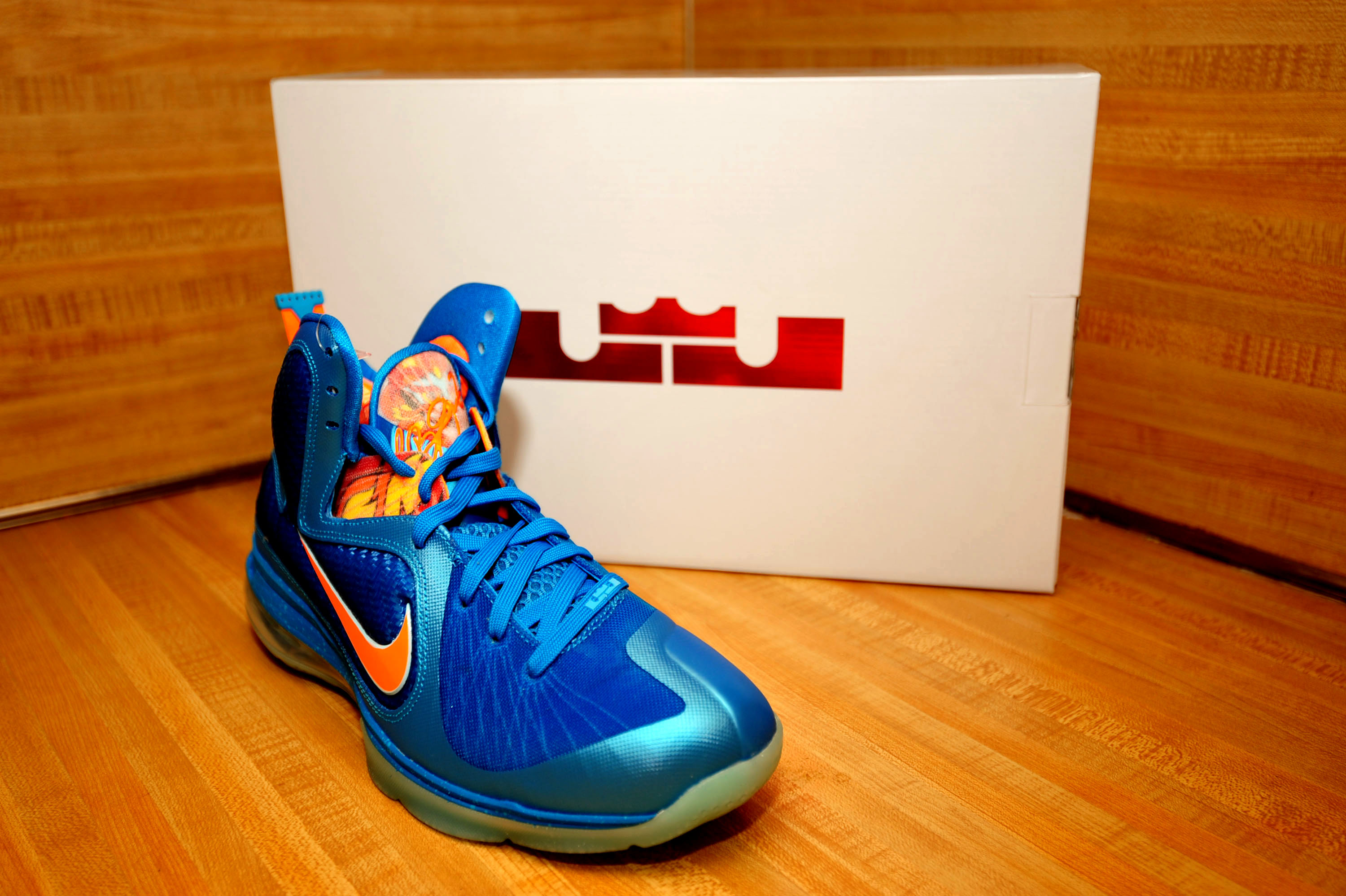 """online store a2491 c8a31 DS - Nike LeBron 9 """"China"""" - Neptune Blue Current Blue Total Orange ..."""