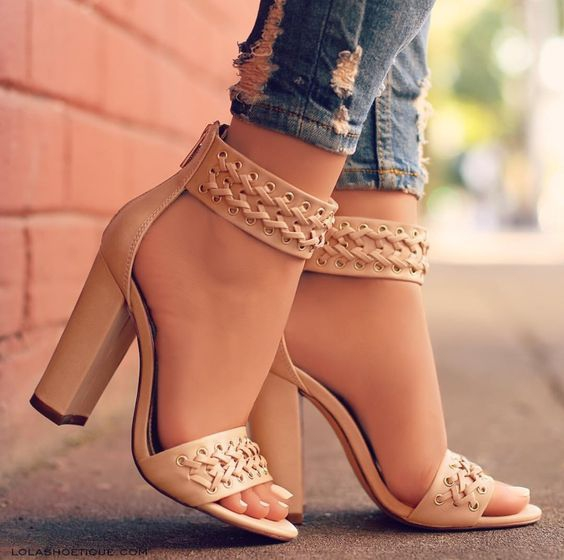 610370aa0b9 Solid Black Beige Summer Women Open Toe Shoes Fashion Ankle Strap  Criss-cross Leather High