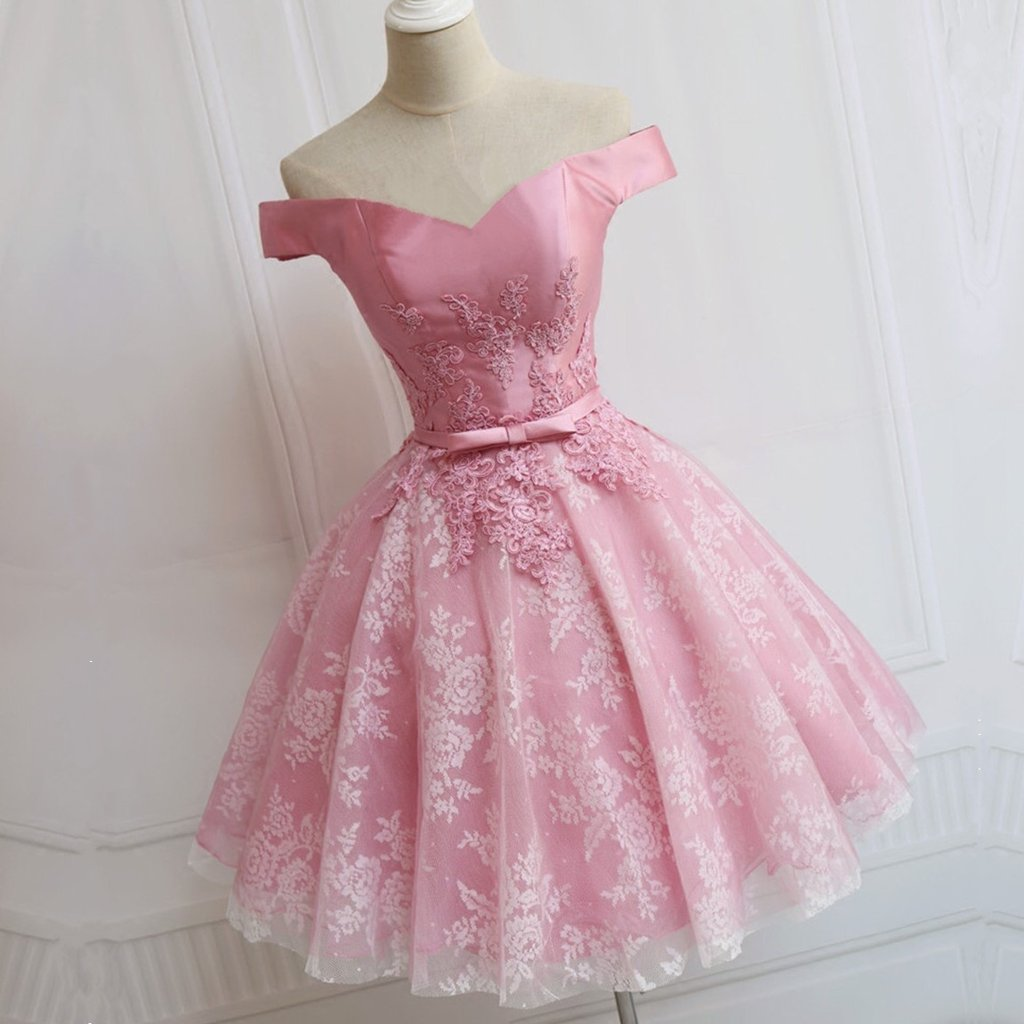 Pink Homecoming Dresses,Pretty Party Dress,Charming Homecoming Dress ...