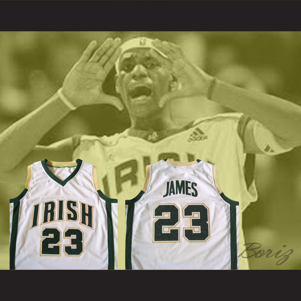 sports shoes 82143 5c692 Lebron James High School Basketball Jersey Irish 23 Stitch All Sizes from  acbestseller