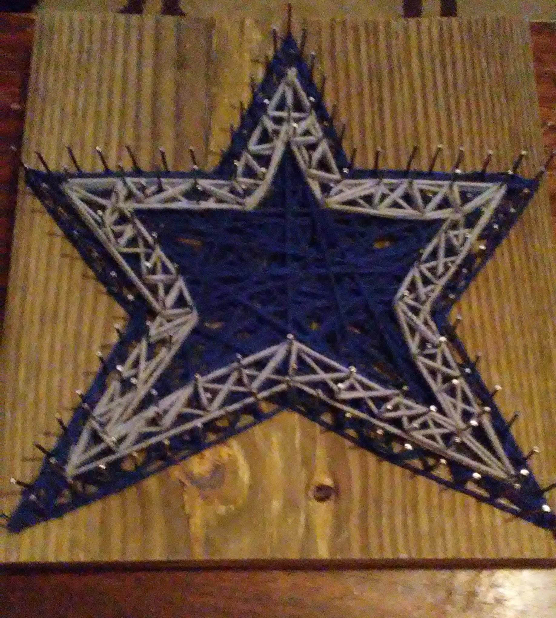 12x12 String Art Dallas Cowboys Star on Storenvy fd46137b6