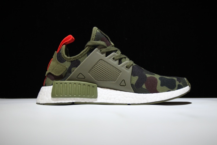 3aa691498a61 Adidas NMD Primeknit XR1 Boost pk Green Camo runner shoes on Storenvy