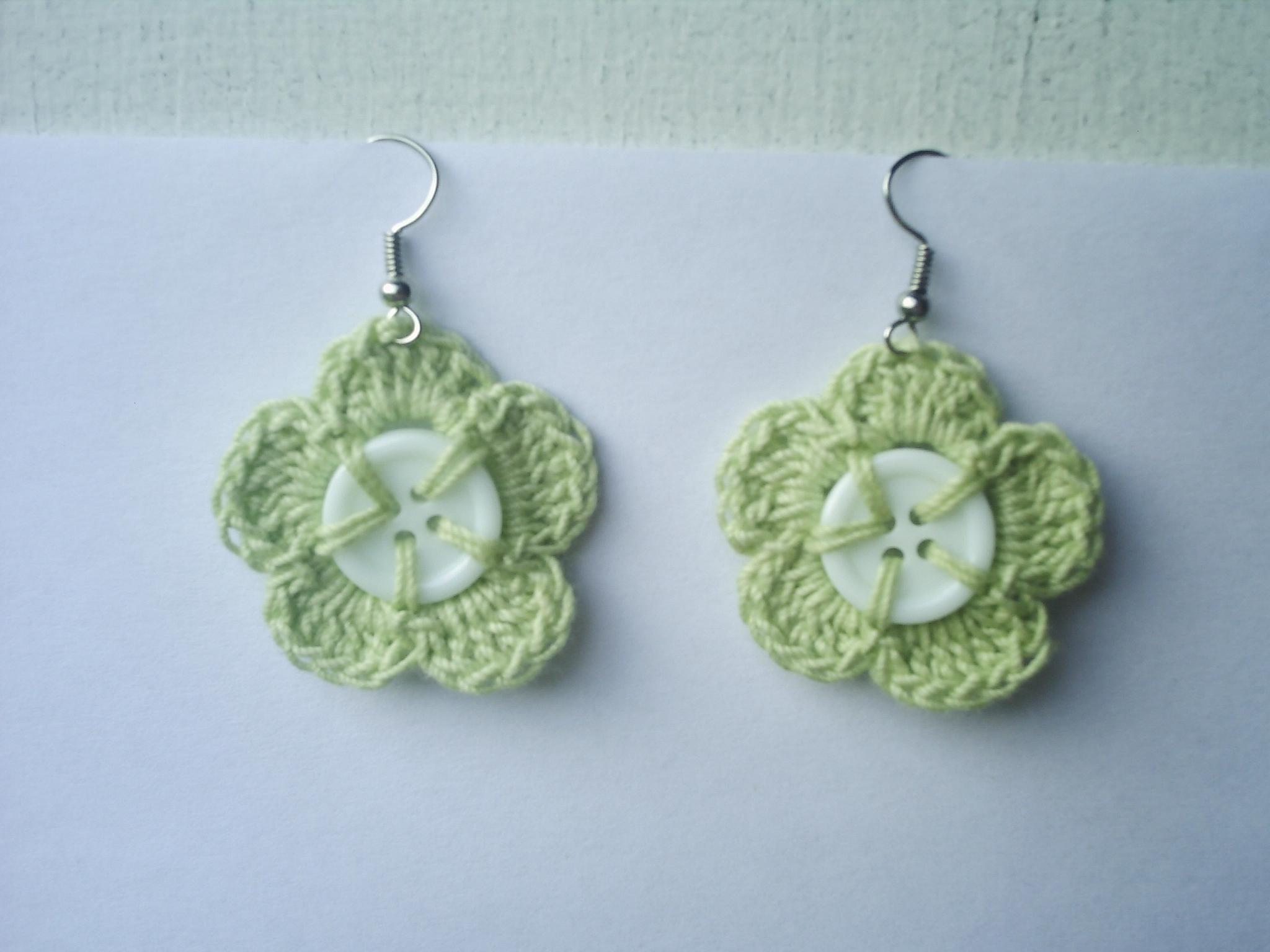 Celery Flowers Crocheted Earrings On Storenvy