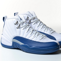 07d2405ebb2 Envy This Collect. AIR JORDAN 12 RETRO FRENCH BLUE 2016 WHITE XII SILVER  BASKETBALL 130690-113