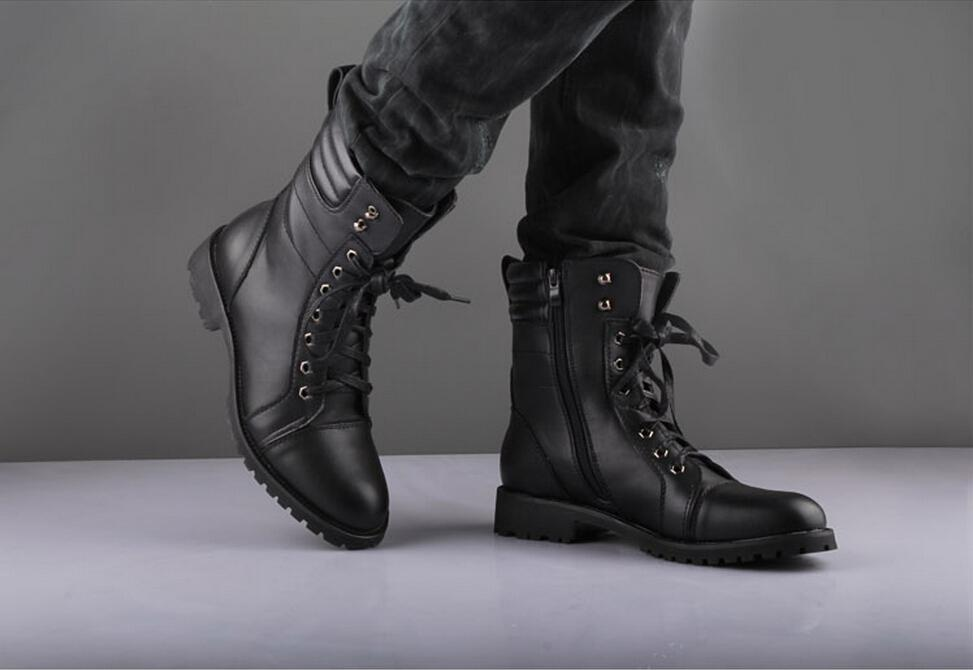 e0ad0fb1825 Men Black Military Style Boot, Men Combat Boot, Men Winter Boot, Mens Boot
