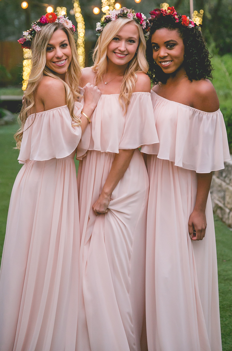 Light pink bridesmaid dressesoff the shoulder long pink simple light pink bridesmaid dressesoff the shoulder long pink simple bridesmaid dresslong chiffon junglespirit Images