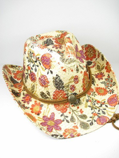 9a28f0e3b241e Wild Hearts Wild Flower Hat Orange and Tan Floral Cowboy Hat with ...