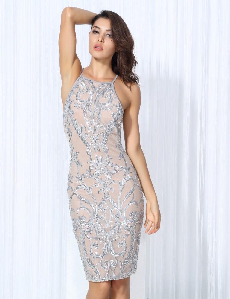 64bdb24a450 Silver Sleeveless Dress · somethingshelikes · Online Store Powered ...