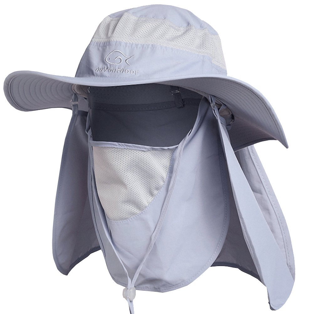 4c883c1a5 Ddyoutdoor™ 07-281 Fashion Summer Outdoor Sun Protection Fishing Cap Neck  Face Flap Hat Wide Brim from smit