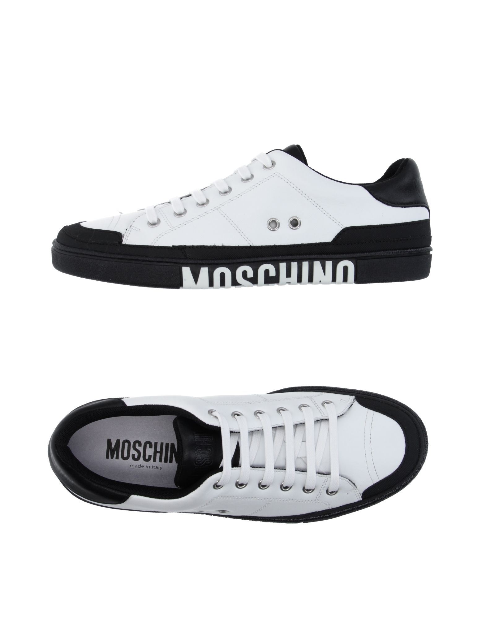 058b39efed278 Moschino  Black   White Low Sneakers on Storenvy
