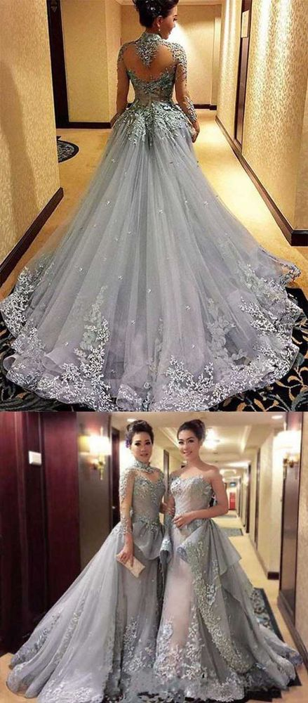 Ball Gown Prom Dresse Princess Prom Dresses Long Sleeves