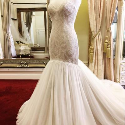 6791979e3320 E54 Full sleeve Round Applique Sweep Brush Train Ball Gown Wedding ...
