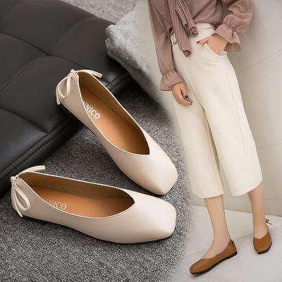 Vintage doudou grandma shoes frontal sole low sole ladies single shoes female summer 2017 new korean bunny shoes