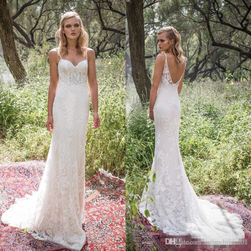 2017 Sexy Backless Full Lace Wedding Dresses Sweetheart Floor Long