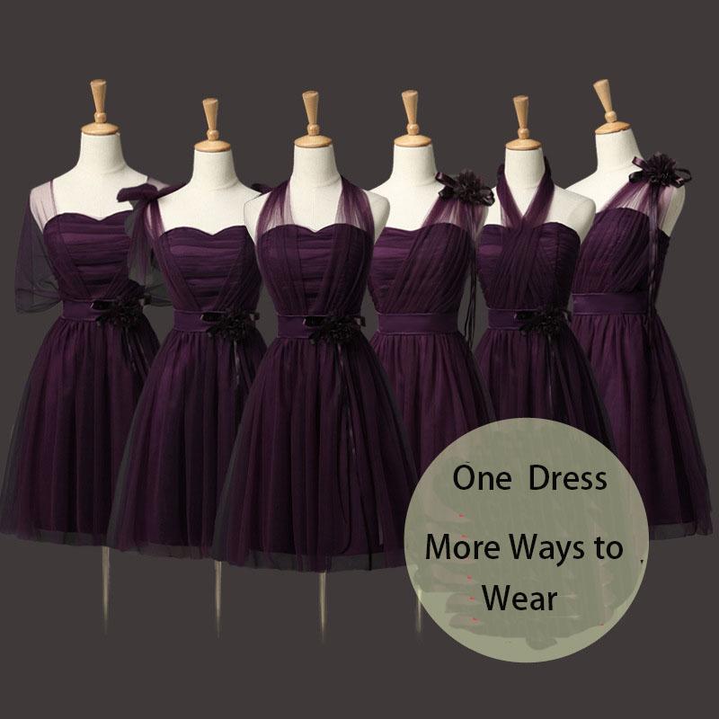 Convertible Bridesmaid Dresses Mini Wedding Bridesmaid Dresses Formal Party Dresses Dark Purple Free Shipping On Storenvy,Wedding Dress Designs For Girls Kids