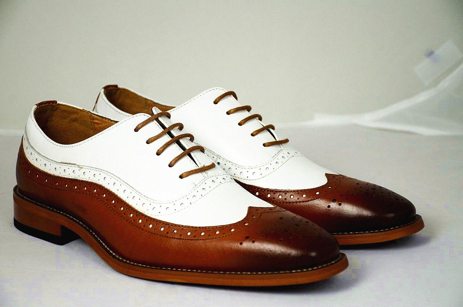 Handmade Men Spectator Shoes, Men Two